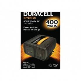 Power Power inverter  DC - Duracell 400W Single UK Socket Inverter (With Single 2.1A USB)