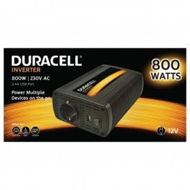 Power Power inverter  DC - Duracell 800W EU Socket Inverter (12V) (With Single 2.1A USB)
