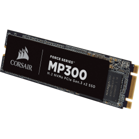 Corsair ForceMP300 series NVMe M.2 SSD 960GB. Up to 1,600MB/s Sequential Read, Up to 1,080MB/s Sequential Write