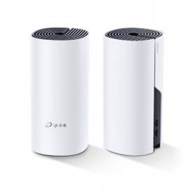 TP-Link AC1200 Whole-Home Hybrid Mesh Wi-Fi System Powerline, Qualcomm CPU, 867Mbps at 5GHz+300Mbps at 2.4GHz - DecoP9-2-PACK