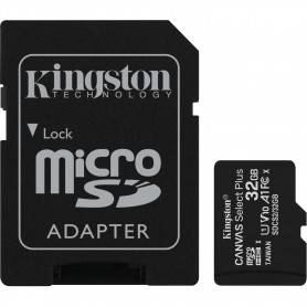 Kingston Micro SDHC 32GB Canvas Select Plus 100R A1 C10 Card + ADP Pack 2 - SDCS2/32GB-2P1A