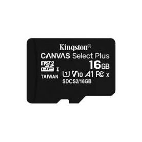 Kingston Micro SDHC 16GB Canvas Select Plus 100R A1 C10 Card + ADP Pack 3 - SDCS2/16GB-3P1A