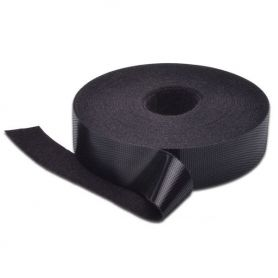 Velcro Tape, 20 mm wide for structured cabling 10 m roll, color black